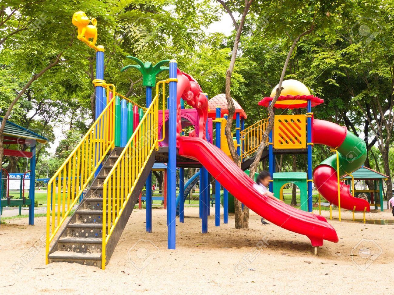 Colorful Children Playground Stock Photo, Picture And Royalty Free ...