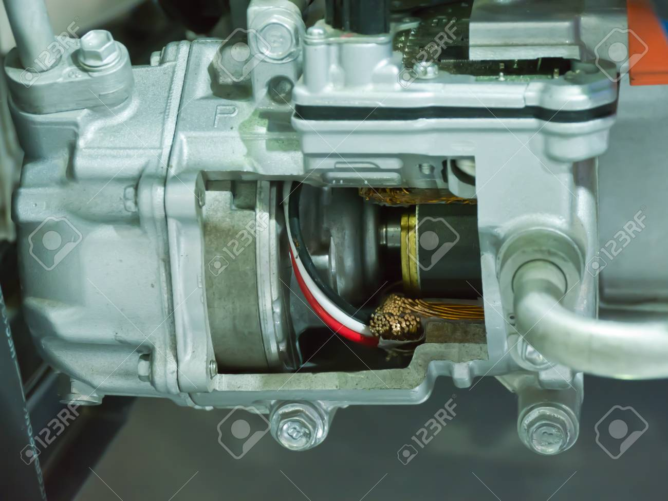 Inside of a car motor Stock Photo - 16929295