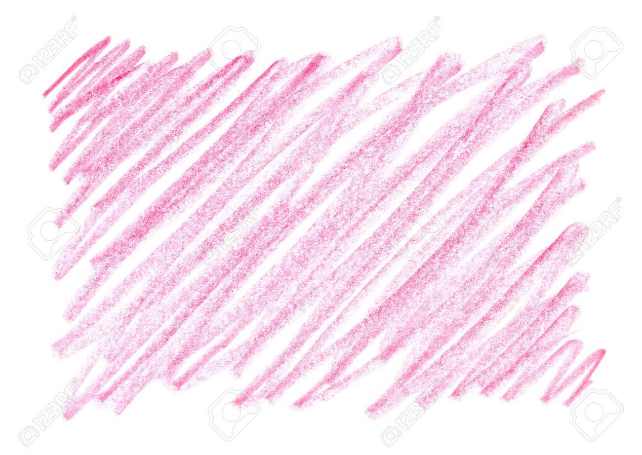 赤い色のクレヨンの手描き フリーハンド 背景はワックス鉛筆です フレーム デザイン要素 グラデーション ブラシ ピンクの背景 ストロークと汚れのテクスチャです 厄介な線に触れます の写真素材 画像素材 Image