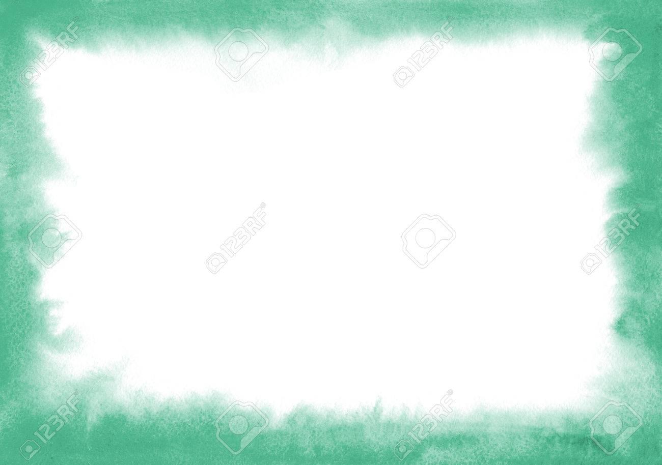 Marco De Acuarela Azul Con Bordes Suaves. Sobre El Tema Del Mar, La ...