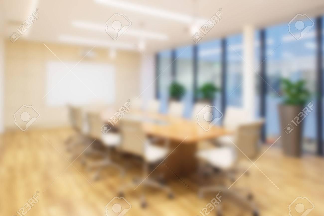 Fond de bureau défocalisé d une salle de conseil avec plancher en