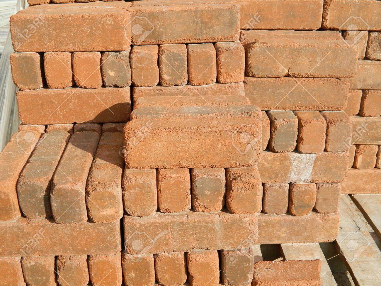 Clay Brick Pavers Palletized Clay Brick Pavers Stock Photo Picture And Royalty Free