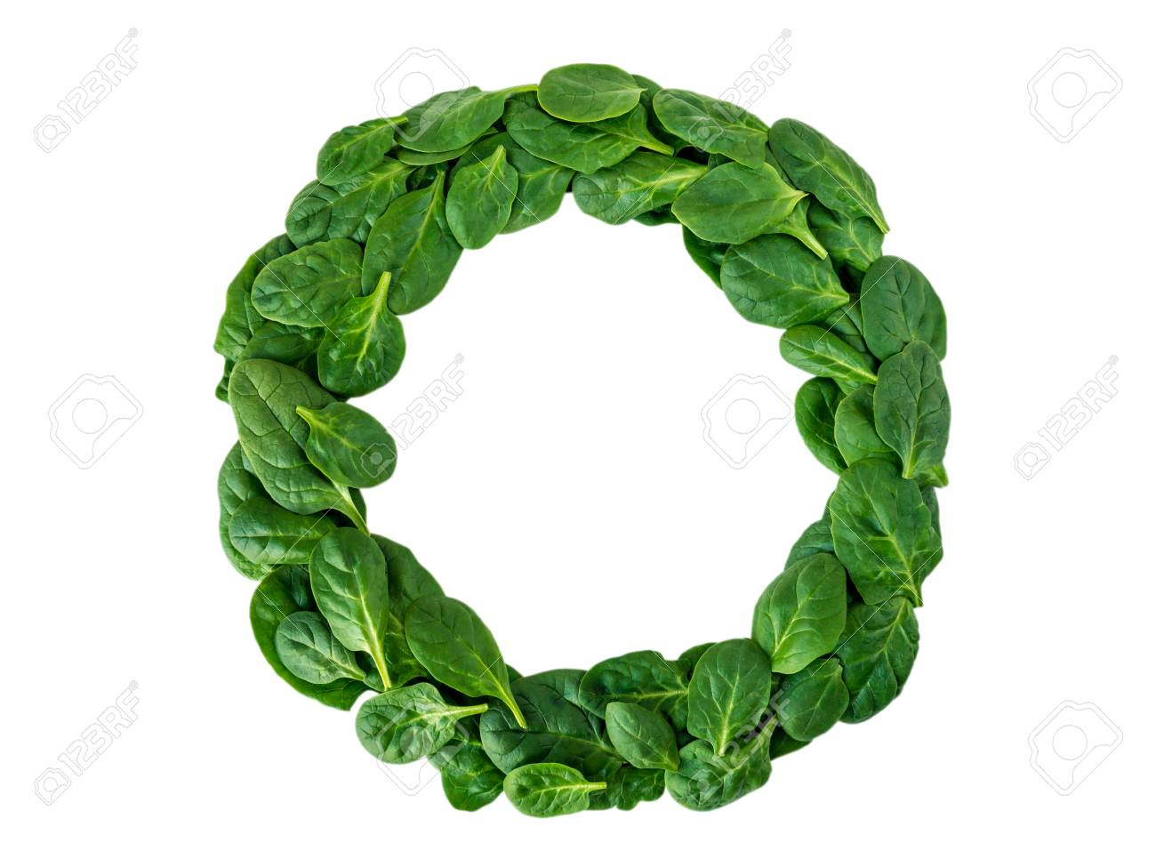 weight loss diet challenge winner round wreath of green spinach