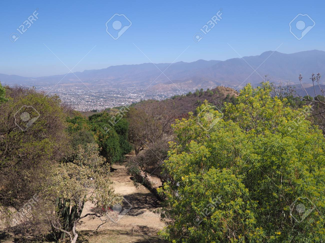 Panorama Of Mexican Countryside And Landscapes With Colorful