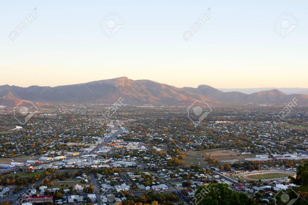 View over Townsville to Mount Stuart in Queensland, Australia