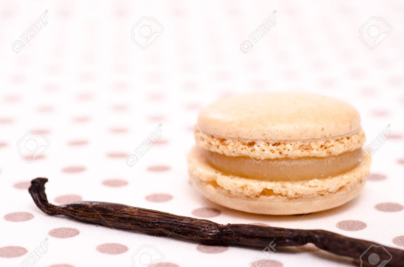 Vanilla bean and french speciality of sweet macaron Stock Photo - 18023855