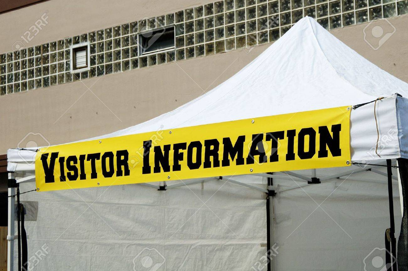visitor information sign on a portable tent Stock Photo - 4992681 & Visitor Information Sign On A Portable Tent Stock Photo Picture ...