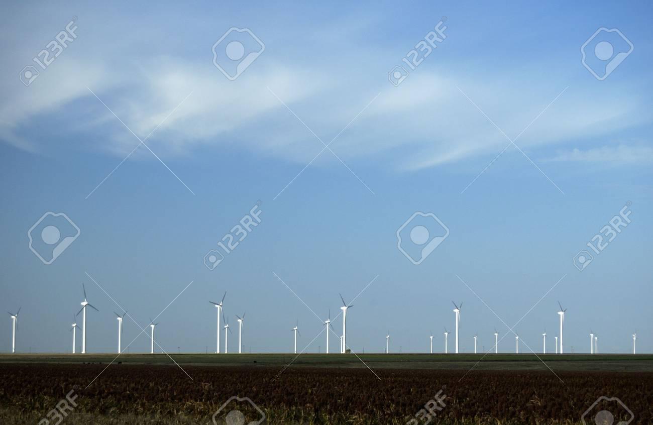 Wind turbines near White Deer, Texas. Stock Photo - 4992645