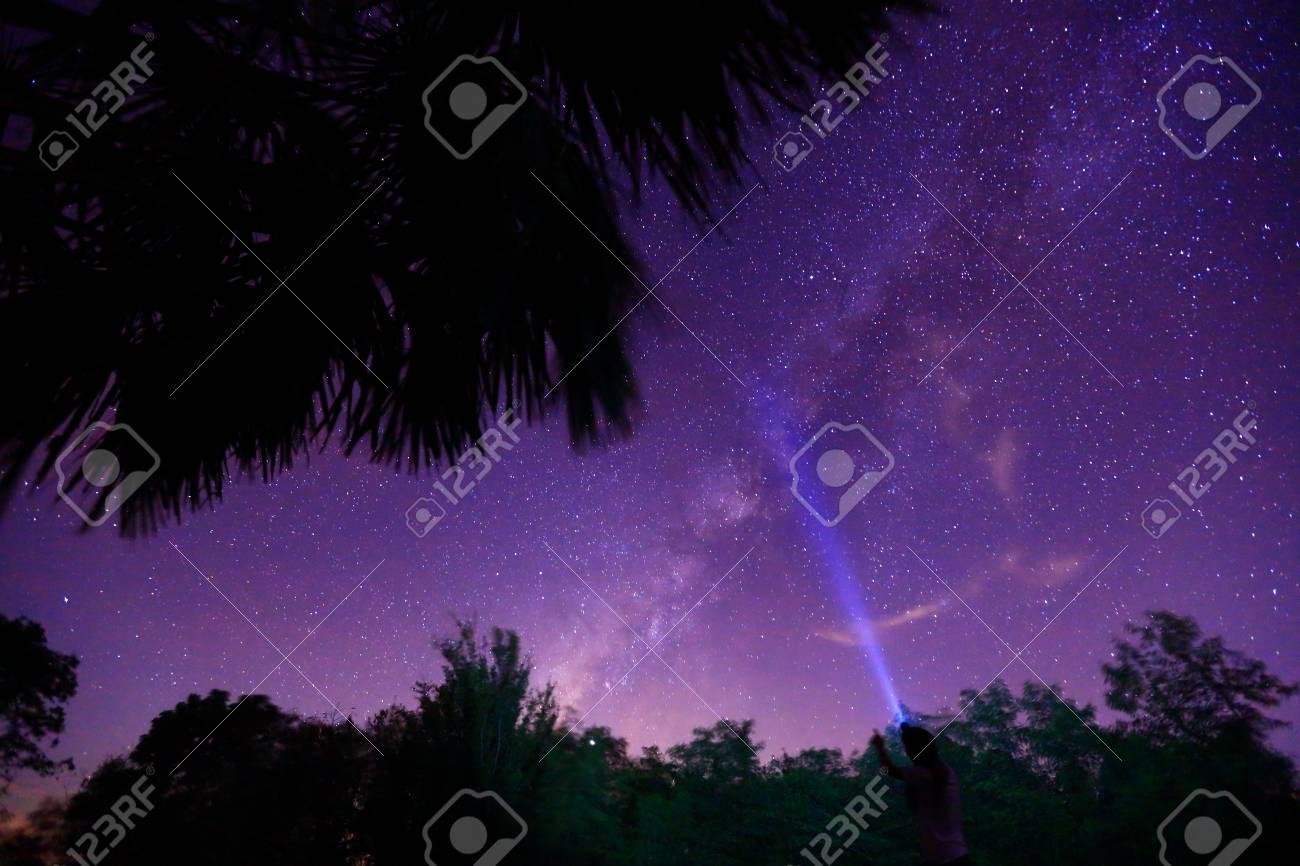 Milky way night sky Stock Photo - 24034818