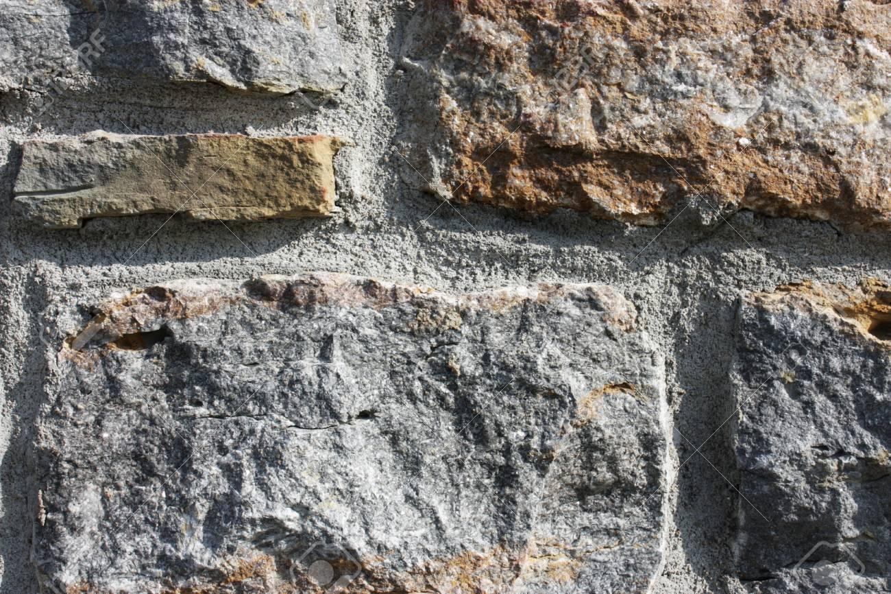 Kalkstein Steine In Die Wand Als Hintergrund Verwendet Werden