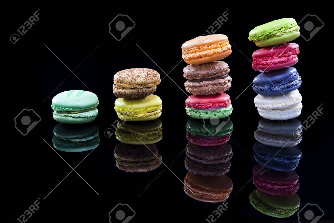 close up shot of various kind of fresh macaroon arrangement Please see some similar pictures from my portfolio - 16974613
