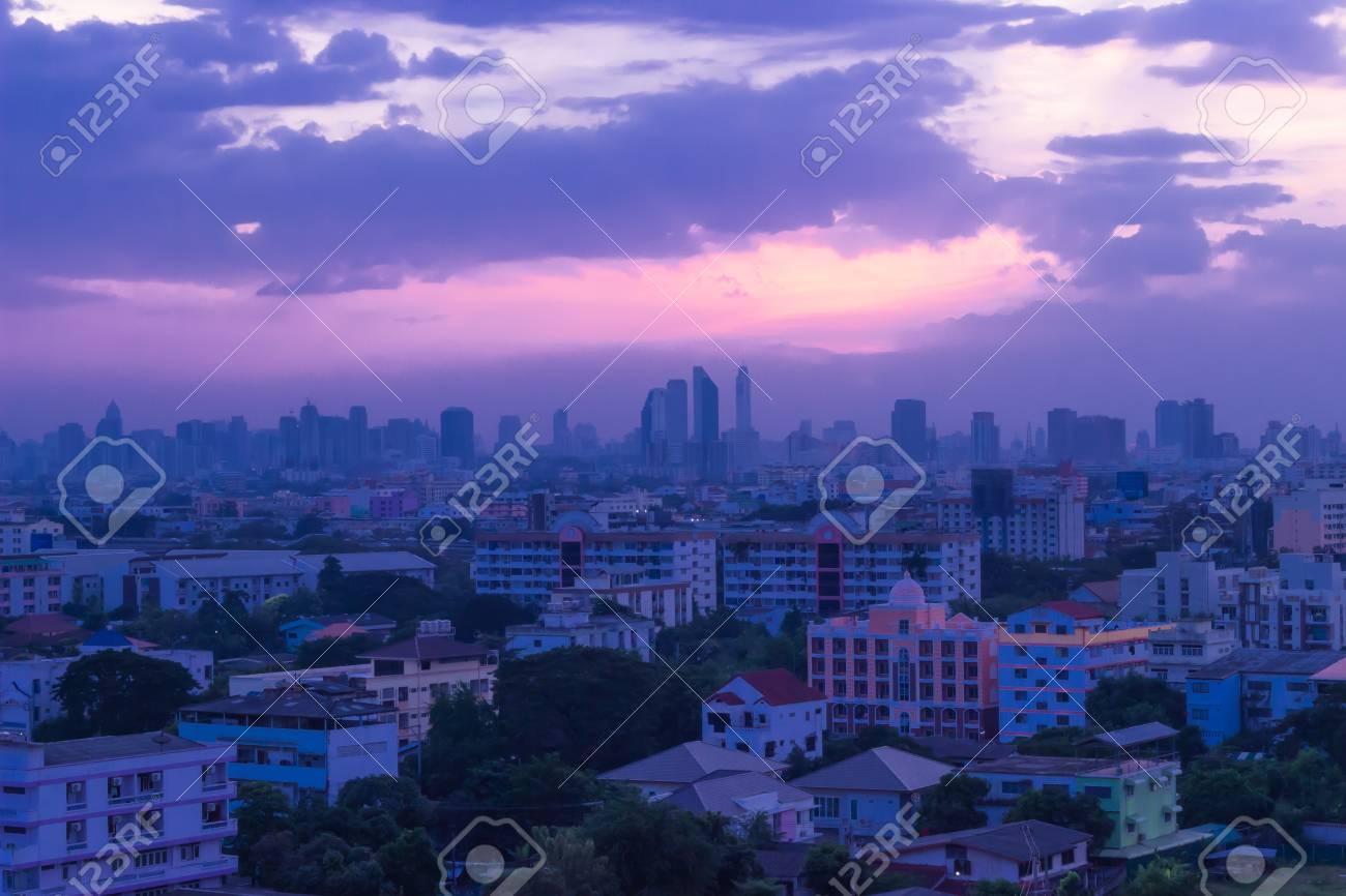 City of Bangkok at Sunset shot view terraced house Stock Photo - 16953760