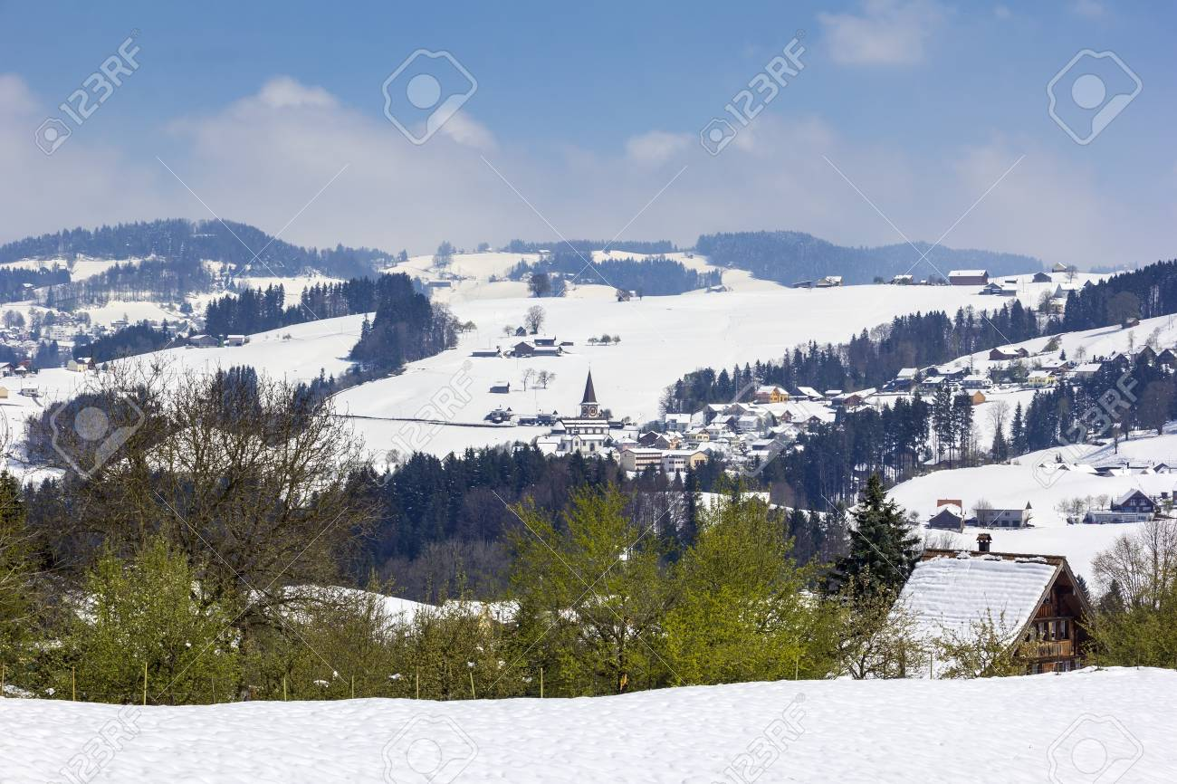 Snow In The Mountains But Springtime Is Coming In The European