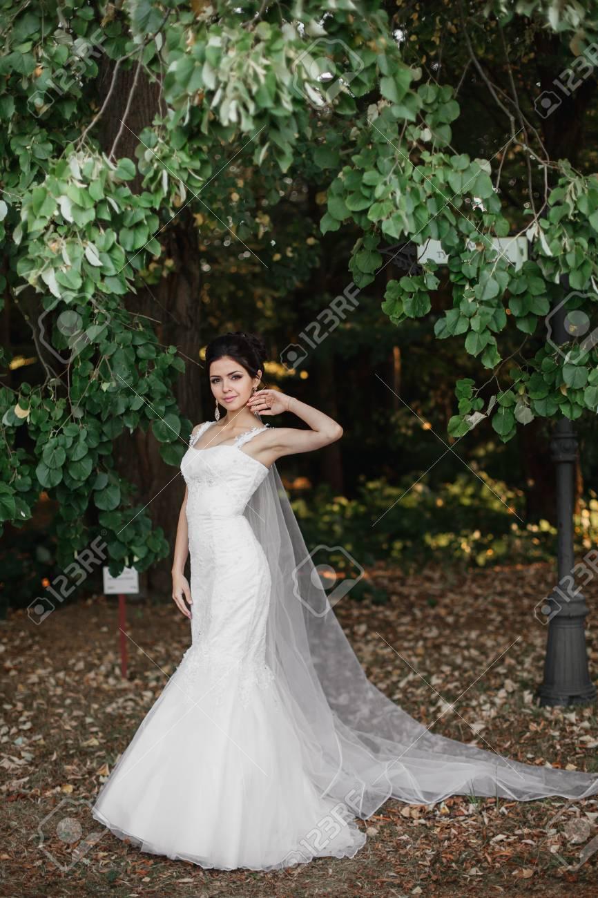 Vestido de novia velo largo