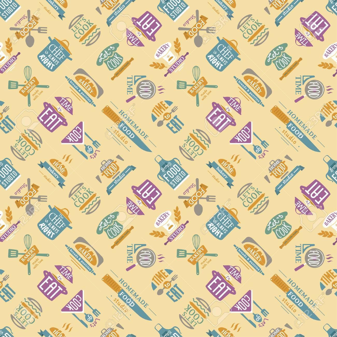 Cooking pattern illustration. - 69017543