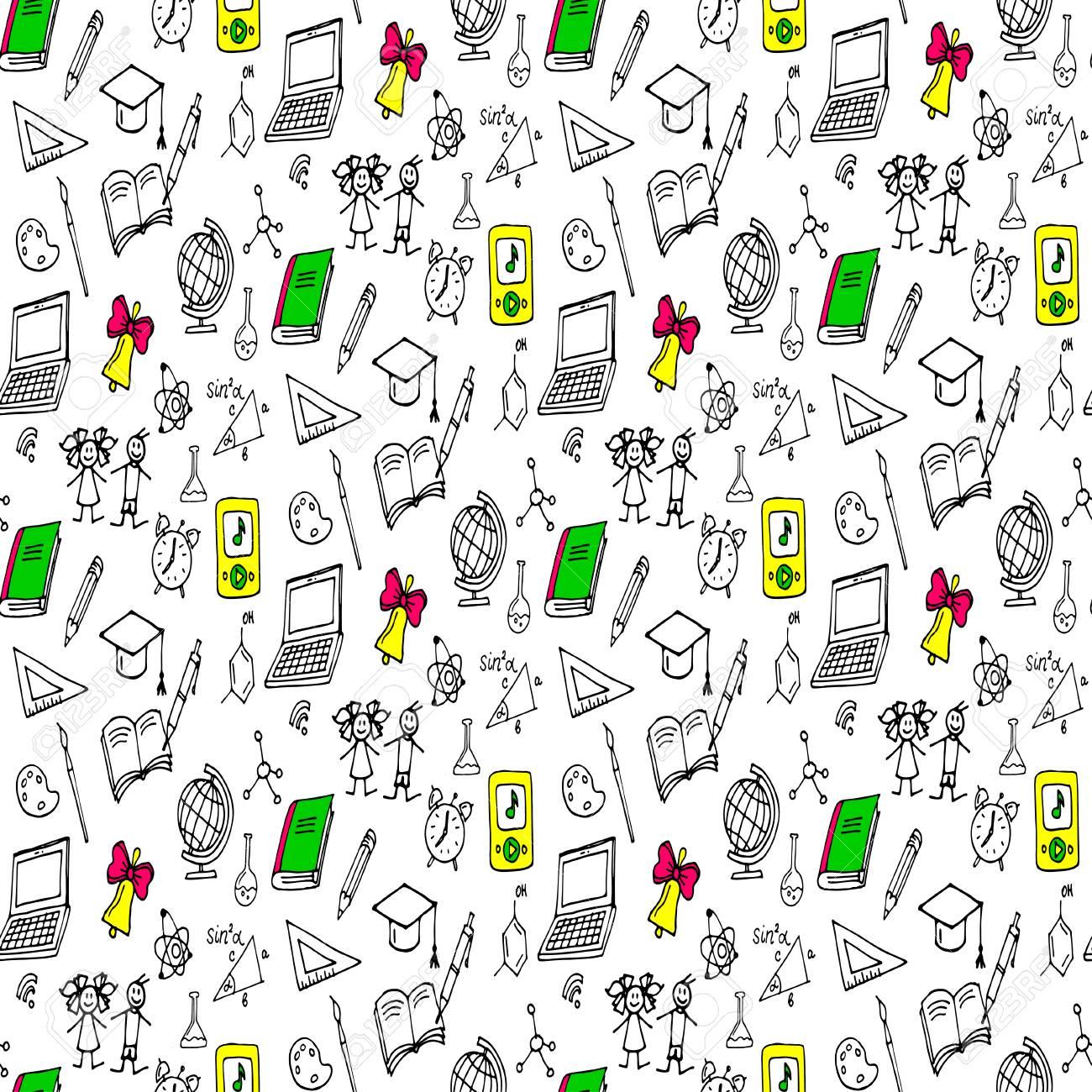 Doodles seamless pattern - 69017542
