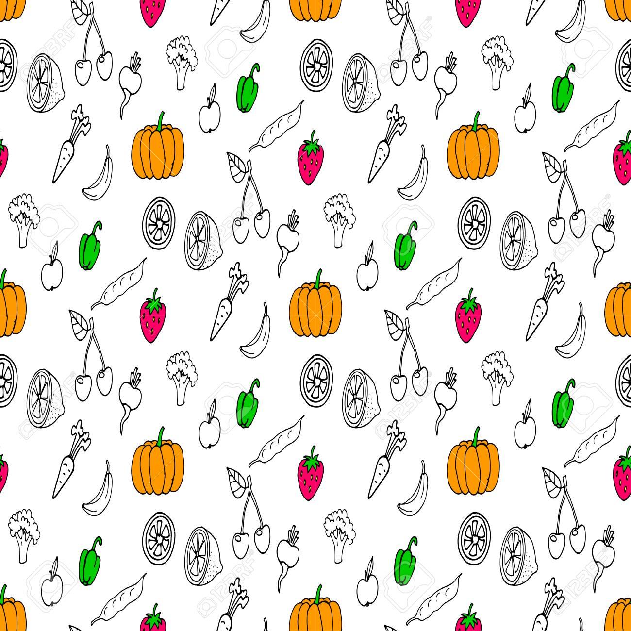 Doodles seamless pattern - 69017548