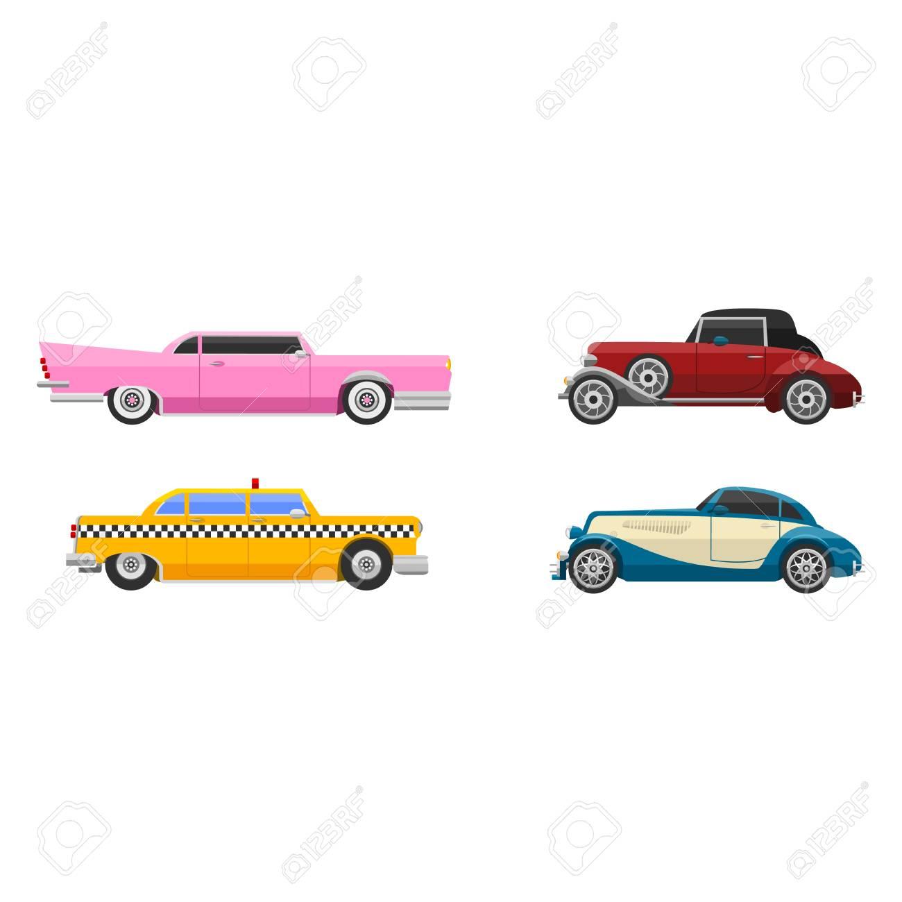 Retro car vehicle. - 69017549