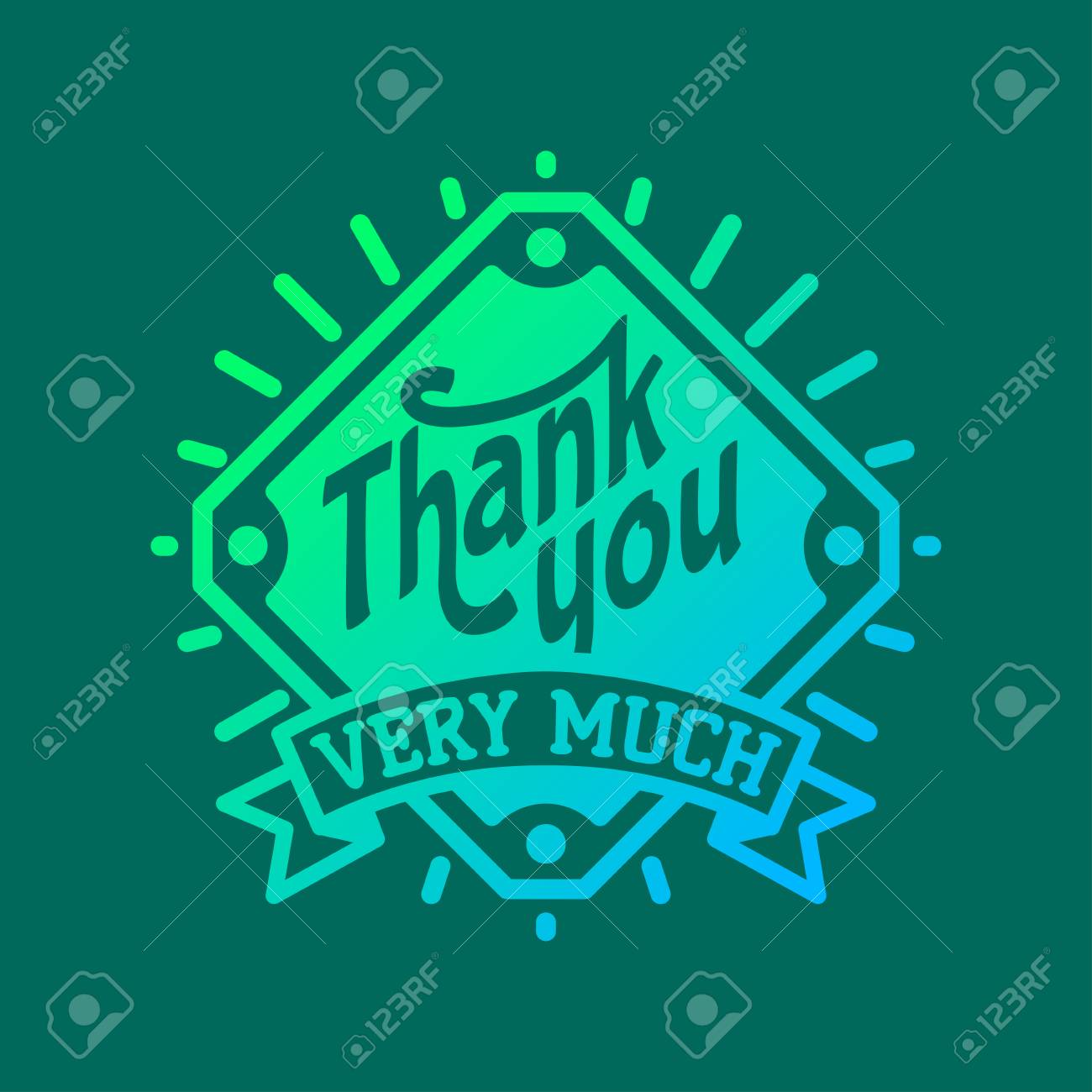 Thank you text lettering badge - 69017561