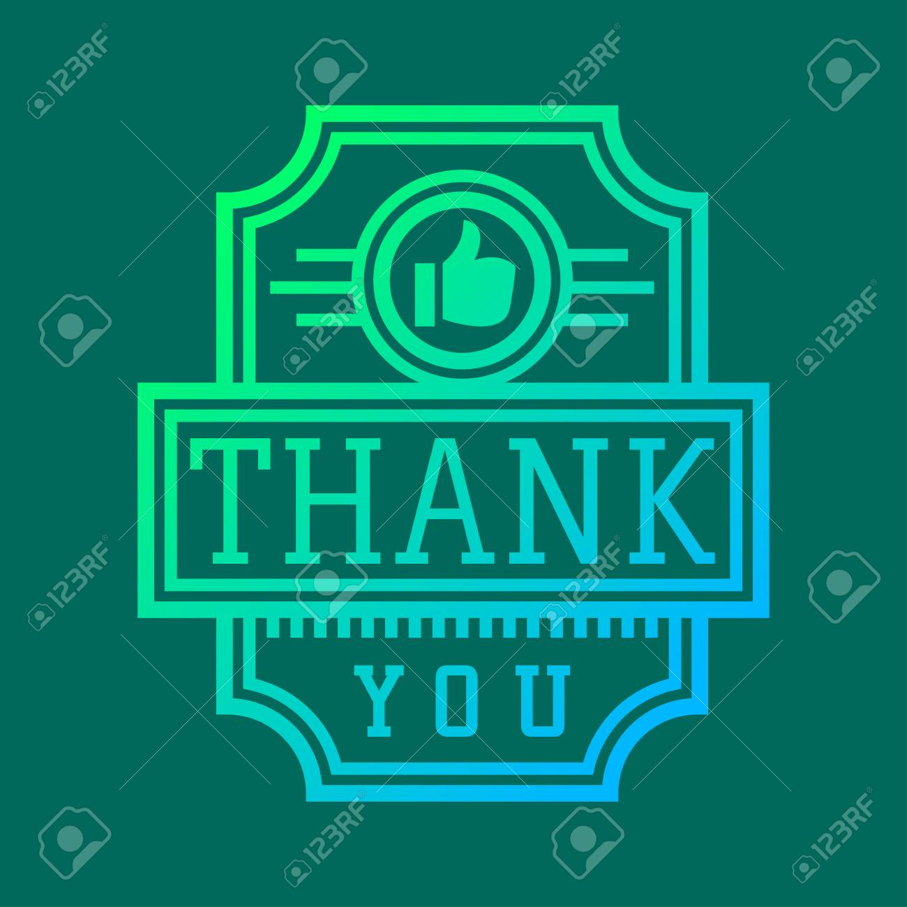 Thank you text lettering badge - 69017563