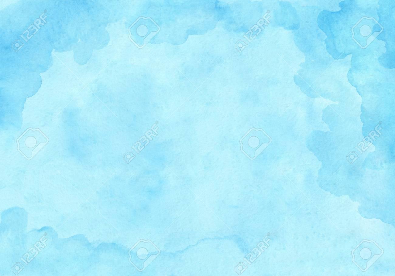 Sky Blue Rectangular Watercolor Gradient Background Beautiful