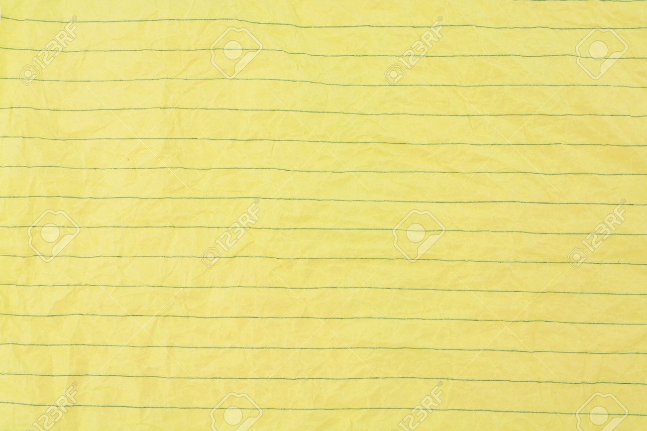 crumpled yellow lined paper close up stock photo, picture and
