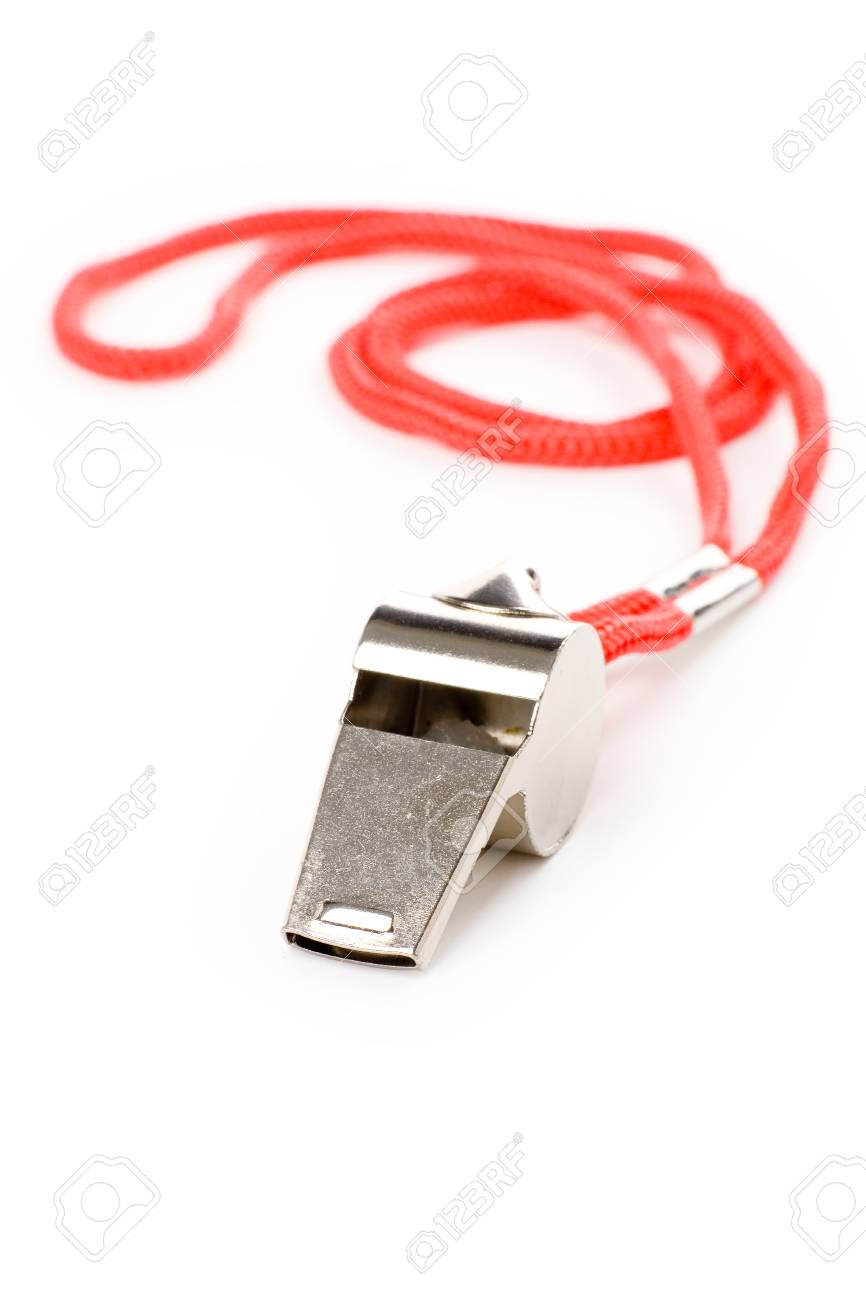 isolated metal Whistle, sport concept Stock Photo - 1470590