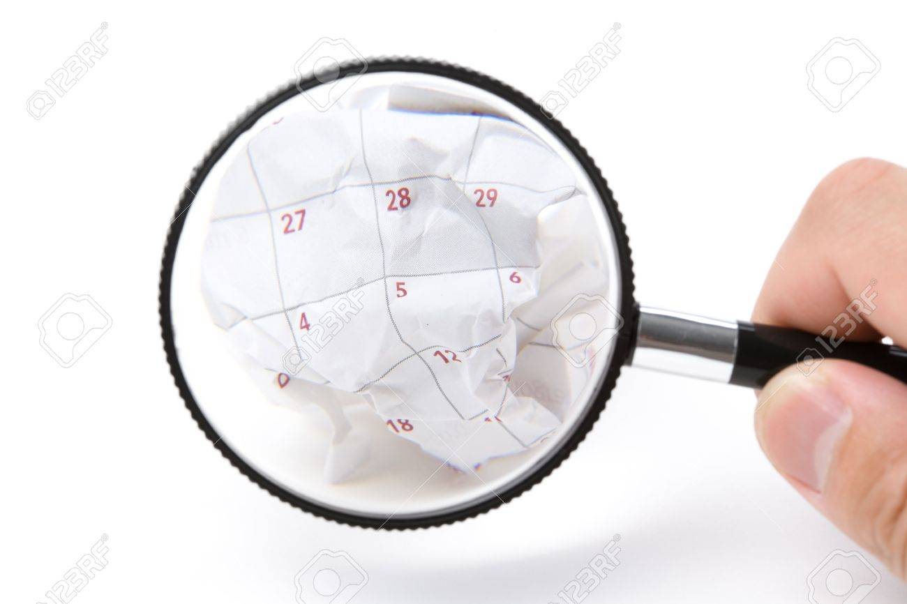 Calendar Paper Ball, Concept Of Time Planning, Wasting Time ...