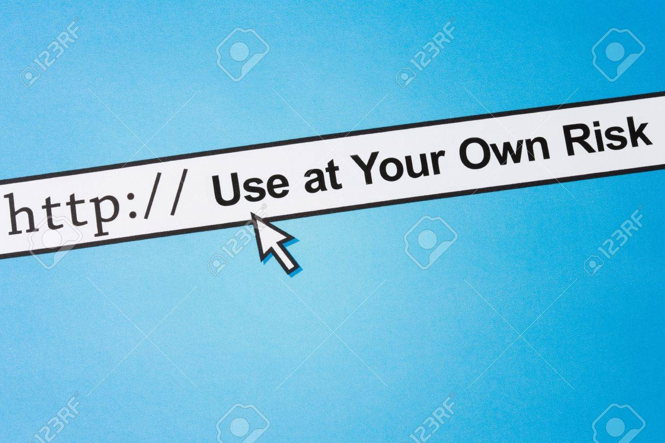 Use at your own risk, concept of online safety, Social Issues Stock Photo - 4751378