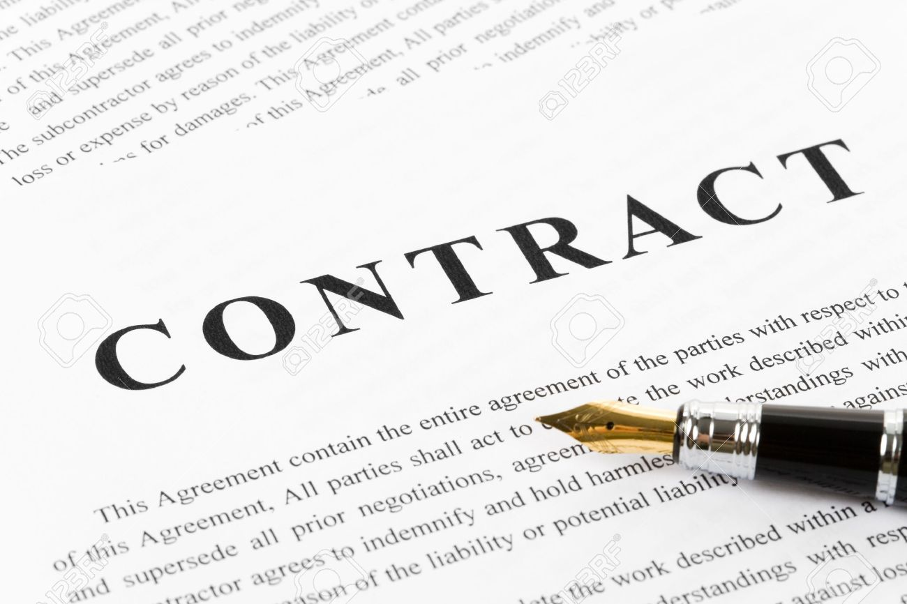 Business Contract And Pen Close Up Photo Picture And – Contract