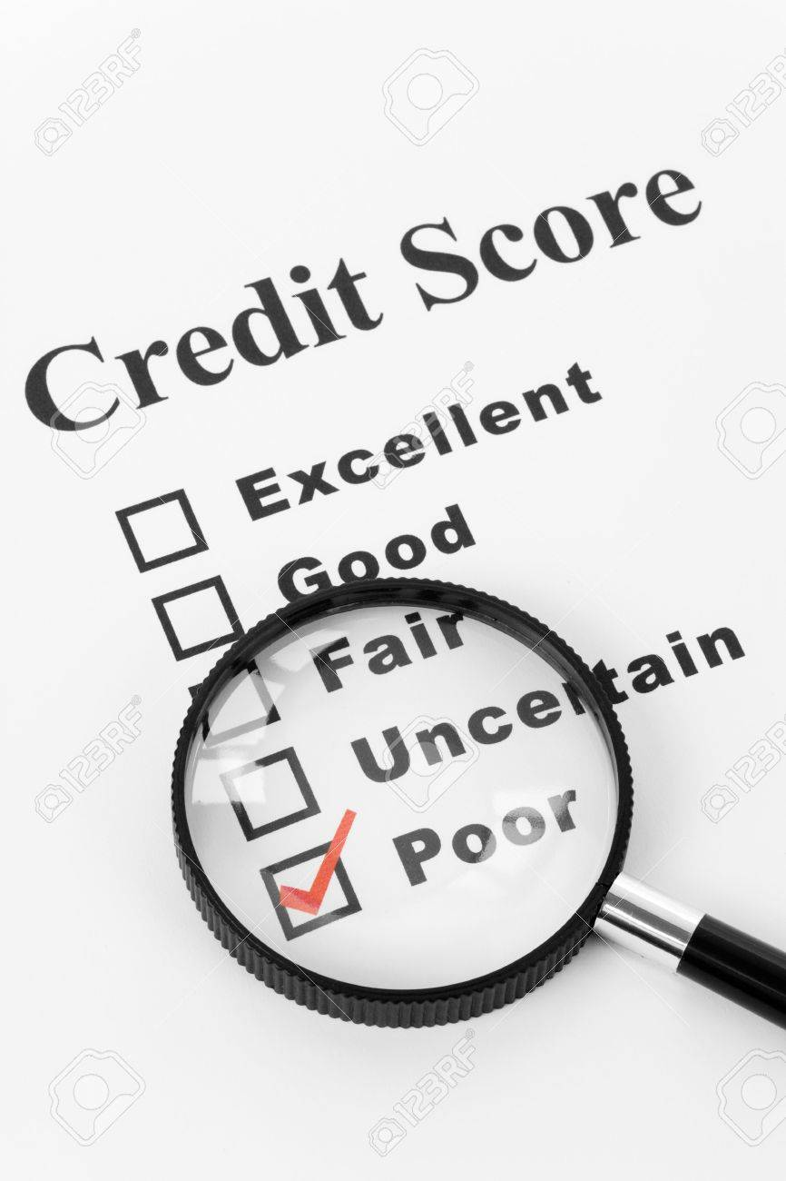 Poor Credit Score, Business Concept for Background Stock Photo - 5138797