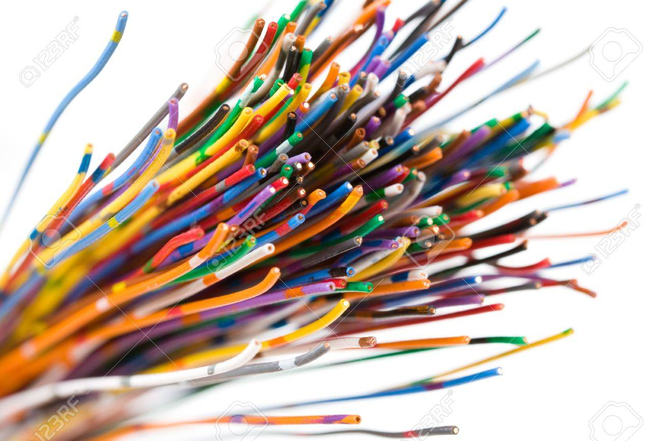 Colorful Cable, Concept of Communication, Data Line Stock Photo - 5139076
