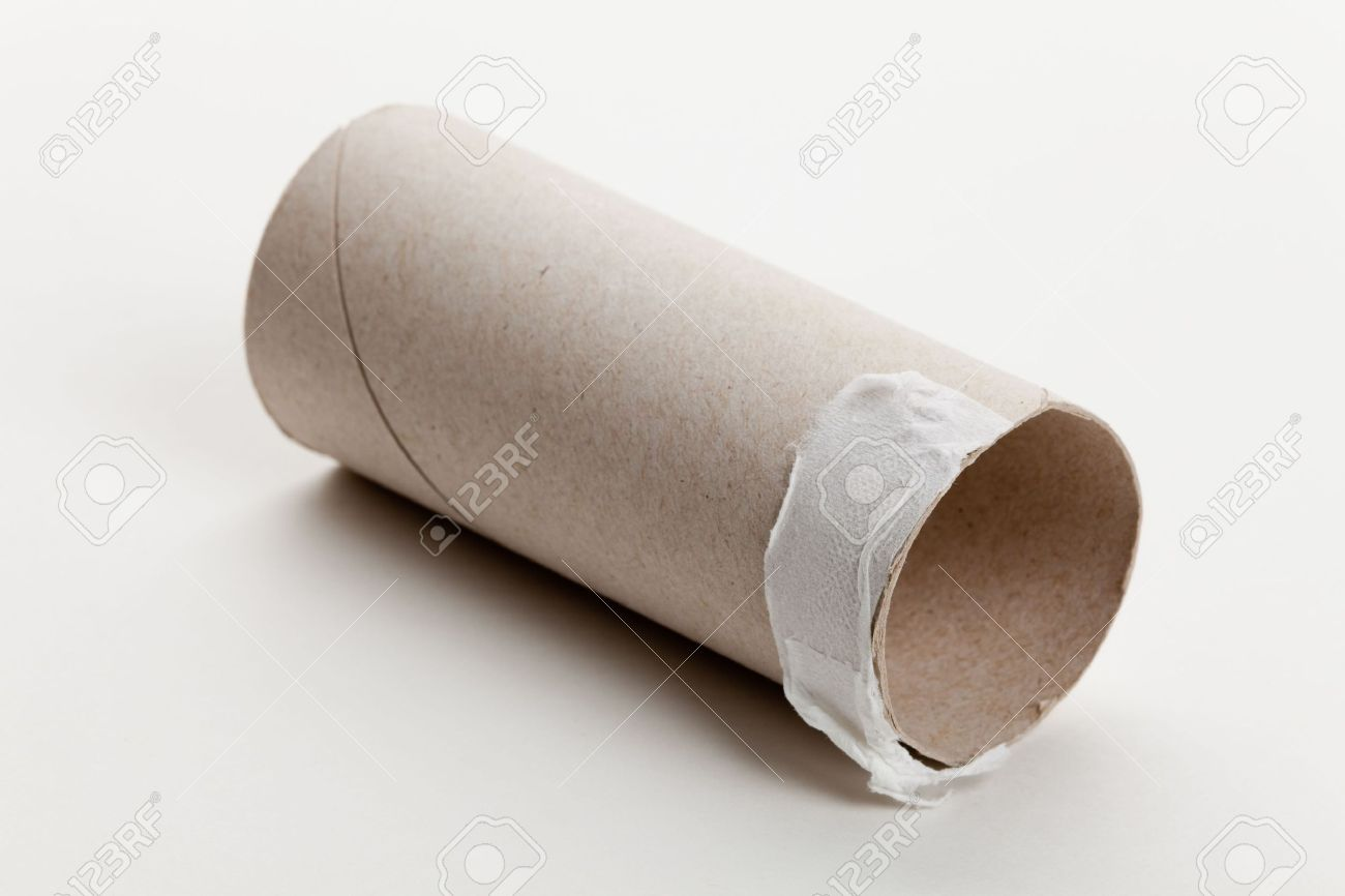 Superb Toilet Paper Roll Part - 7: Empty Toilet Paper Roll Close Up Stock Photo - 6944792