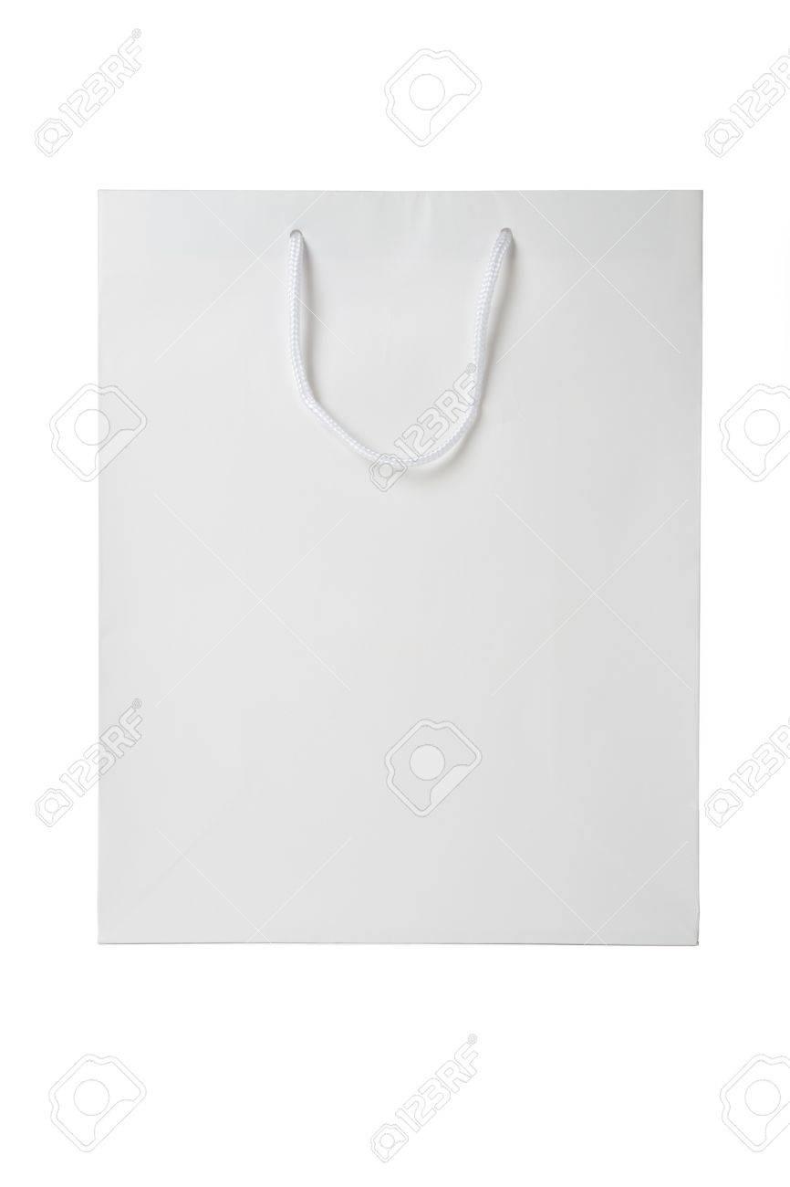White Shopping Bag close up shot Stock Photo - 7333083