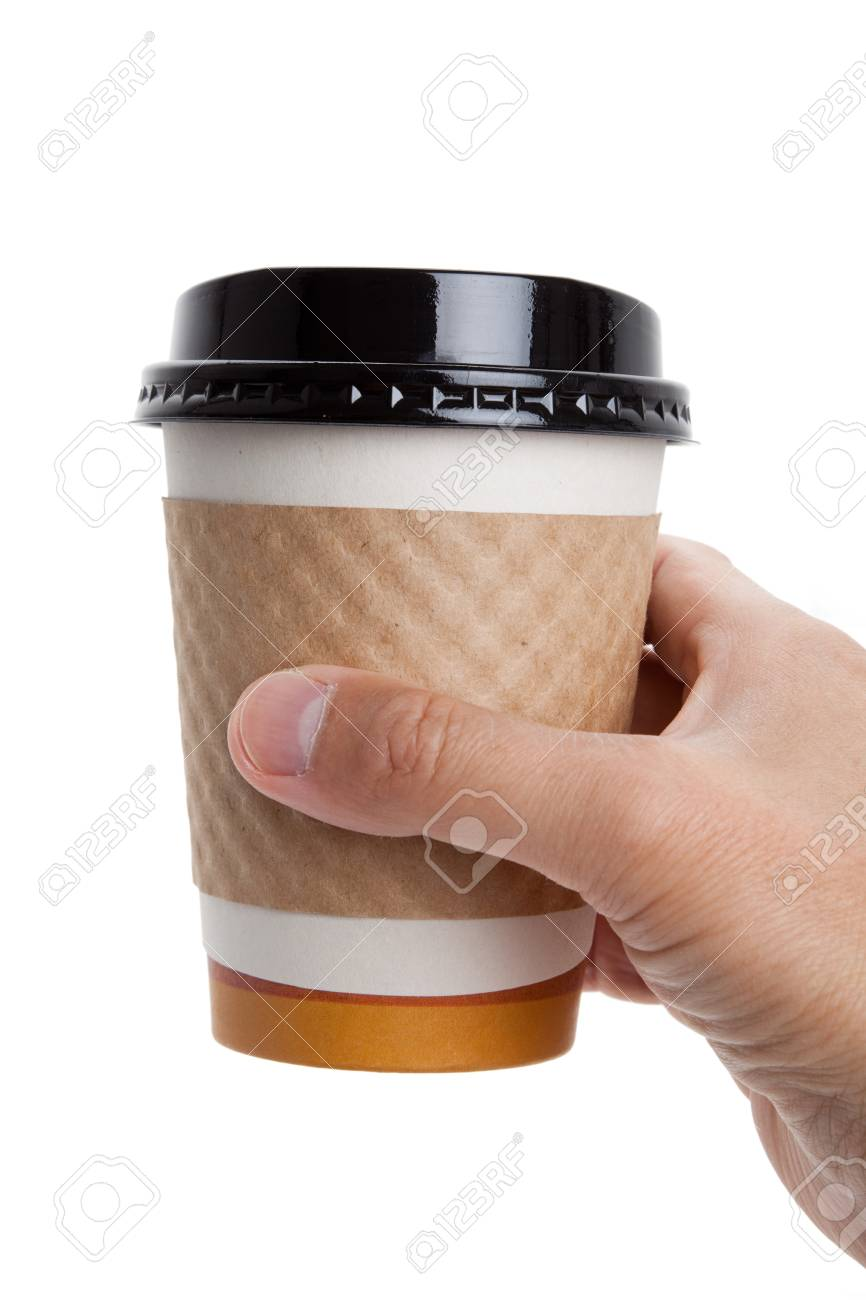 Disposable Coffee Cup with white background Stock Photo - 7781414