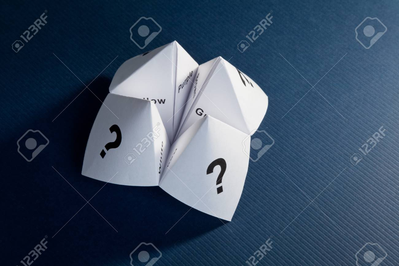 Paper Fortune Teller,concept of uncertainty Stock Photo - 8765573