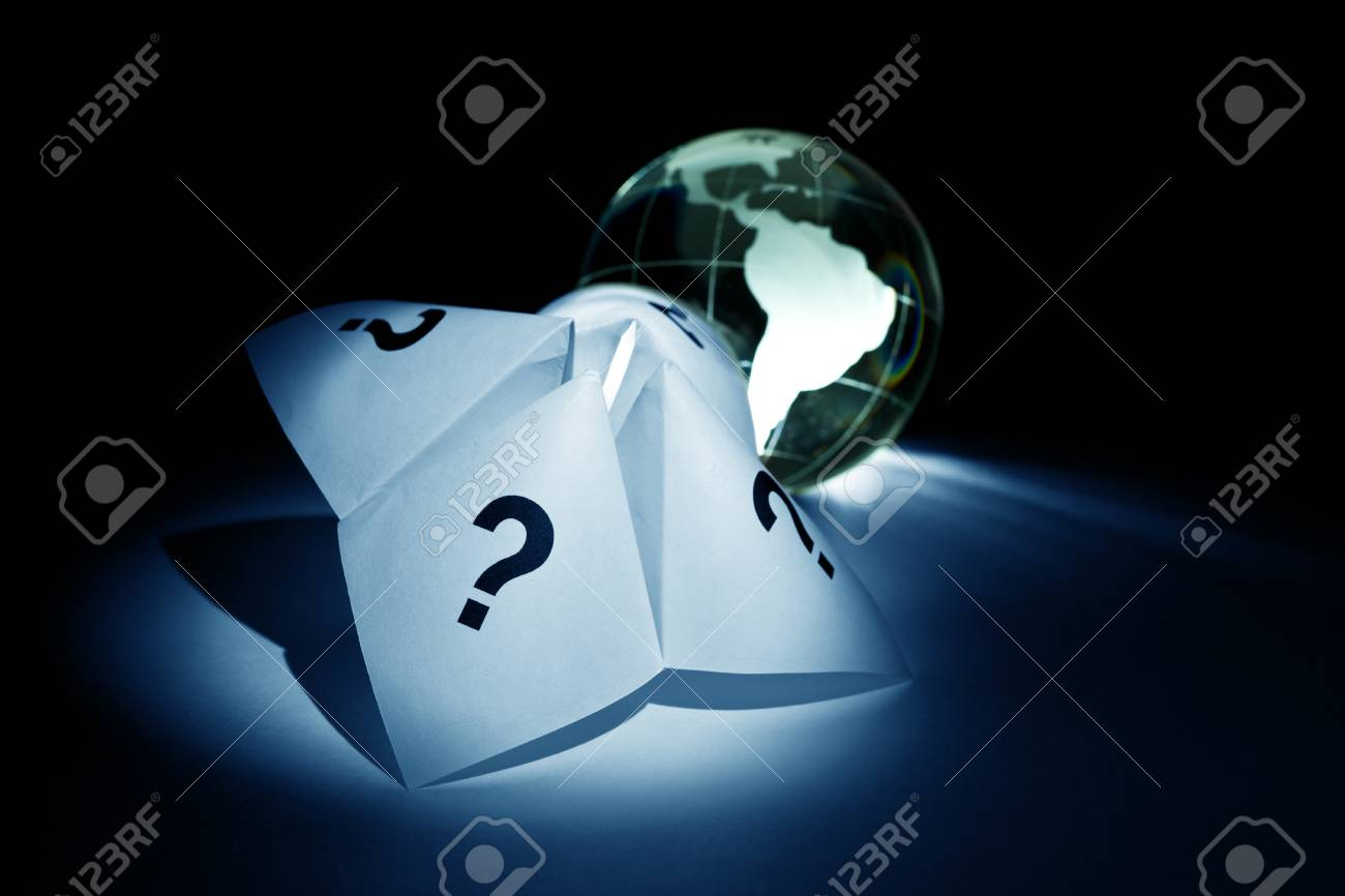 Globe and Paper Fortune Teller for background Stock Photo - 8906567