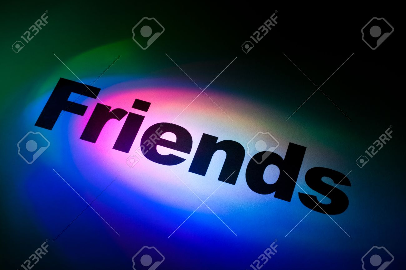 Color light word Friends for background Stock Photo - 9088433