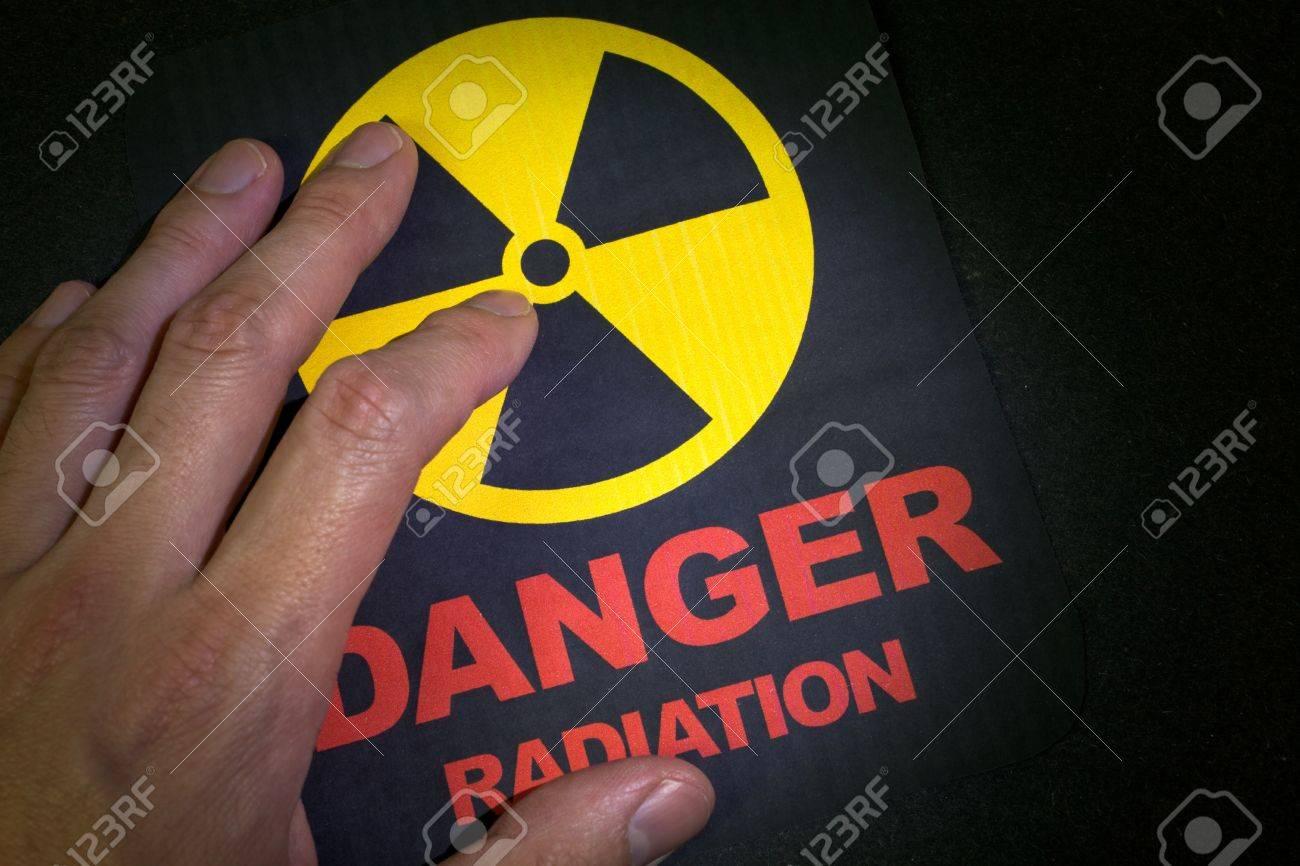 Radiation hazard sign for background Stock Photo - 9088463