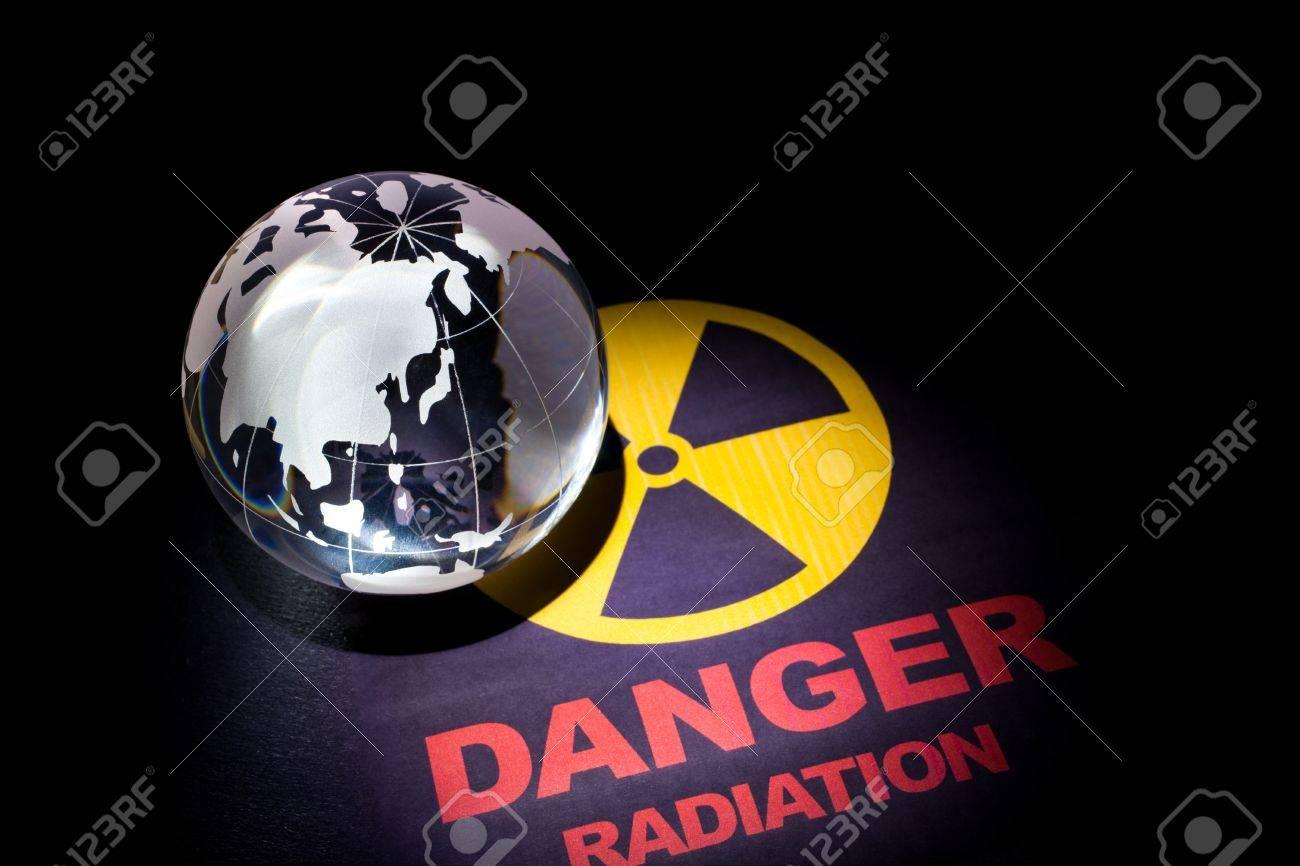 Radiation hazard sign for background Stock Photo - 9088431