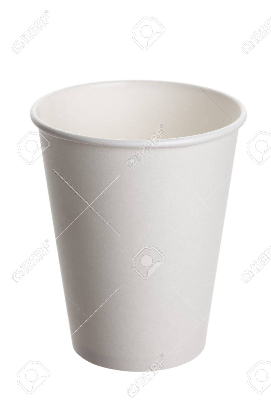 White Paper Cup close up Stock Photo - 9794952