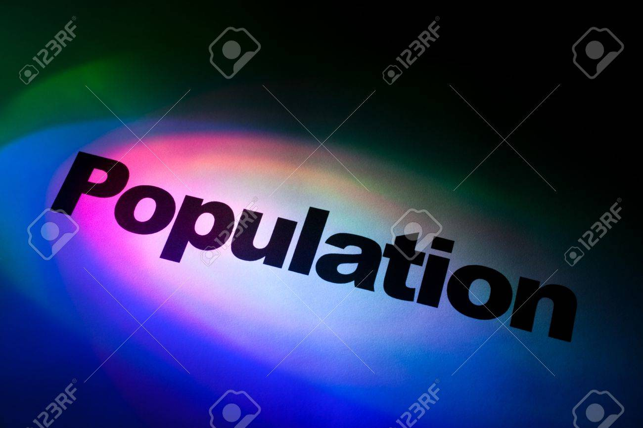 Color light and word of Population for background Stock Photo - 10943126