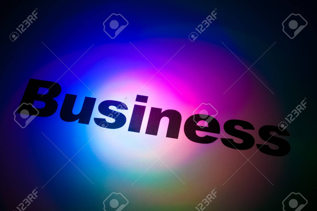 Color light and word of Business for background Stock Photo - 11104310