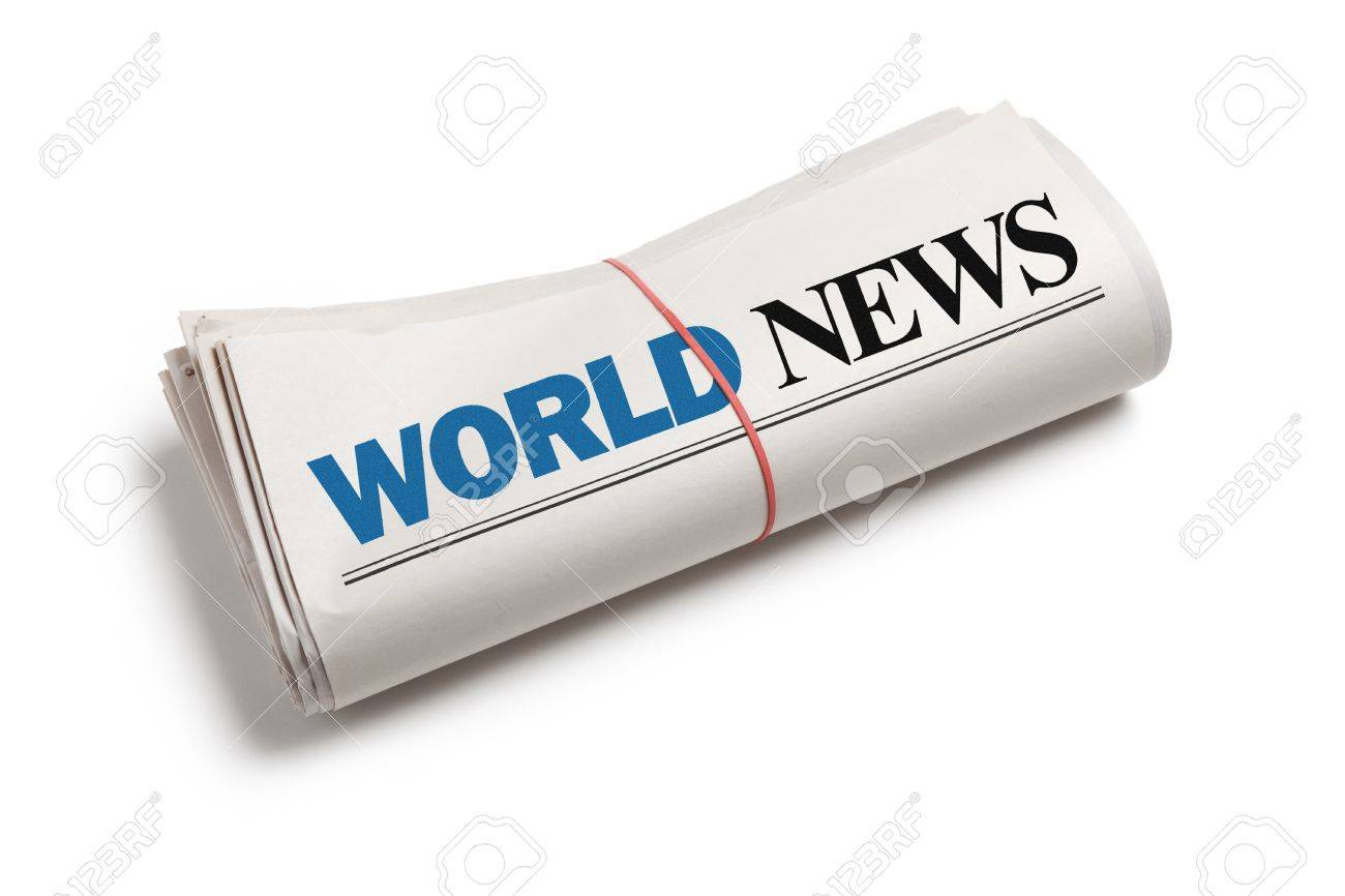 World News, Newspaper roll with white background Stock Photo - 13184205