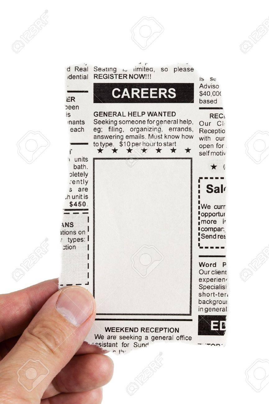 Fake Classified Ad, newspaper, Career concept. Stock Photo - 14577902