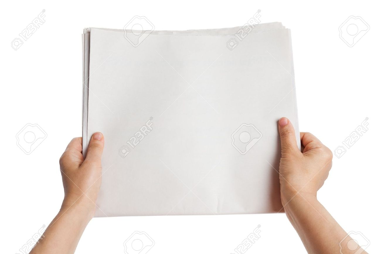 Blank Newspaper With White Background Stock Photo Picture And