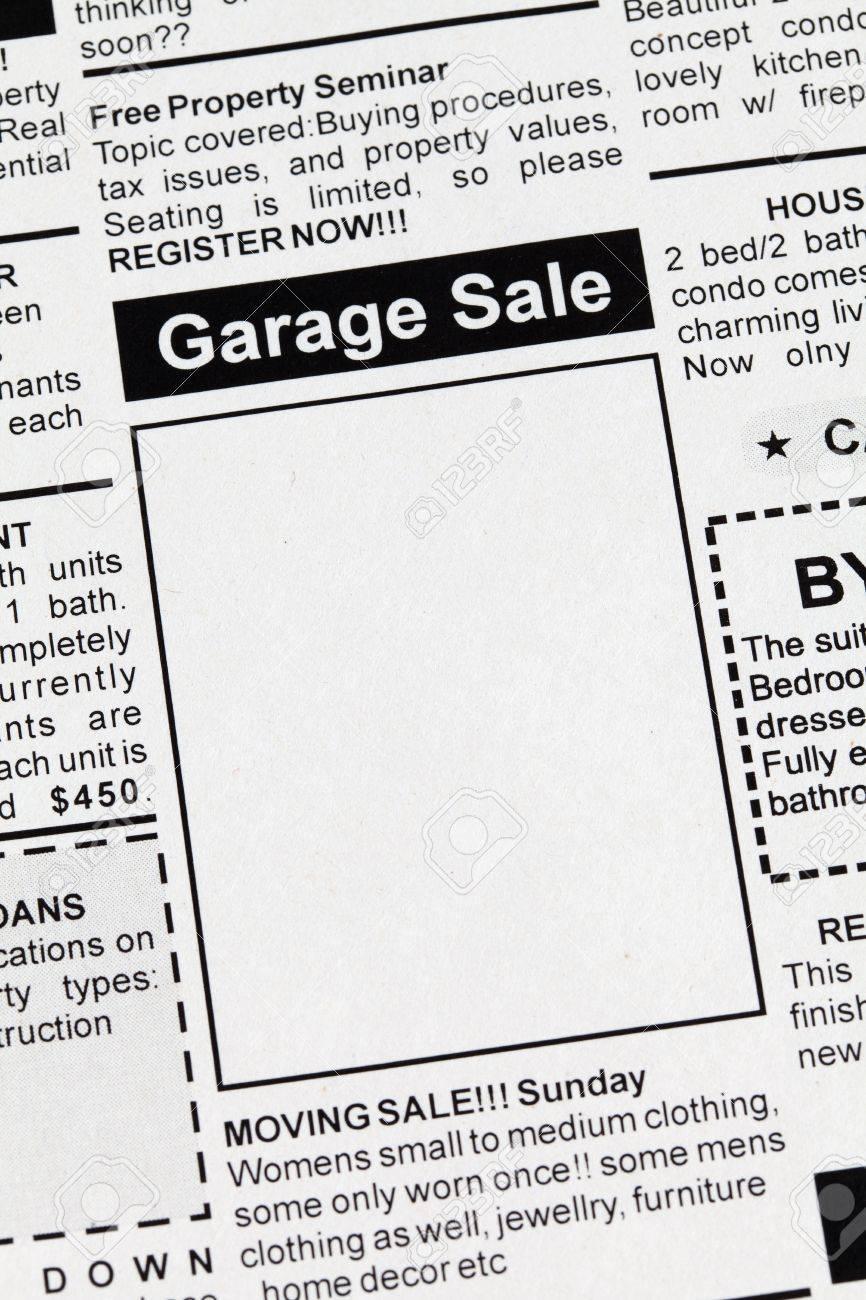 Wondrous Fake Classified Ad Newspaper Garage Sale Concept Inzonedesignstudio Interior Chair Design Inzonedesignstudiocom