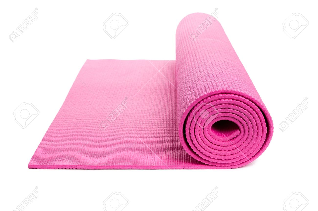 Pink Yoga Mat With White Background Stock Photo Picture And Royalty Free Image Image 16248433
