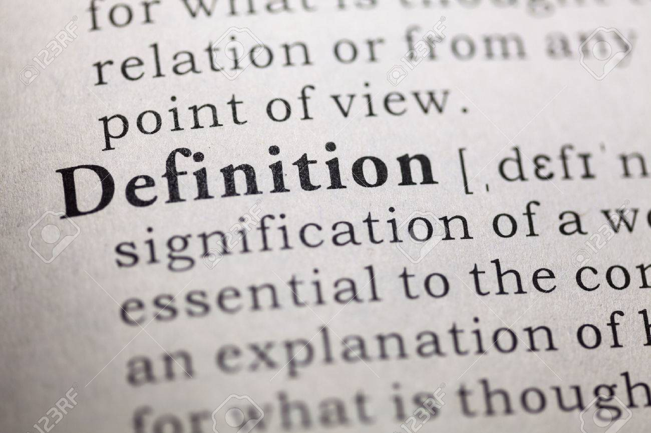 Dictionary definition of the word definition. - 22898118