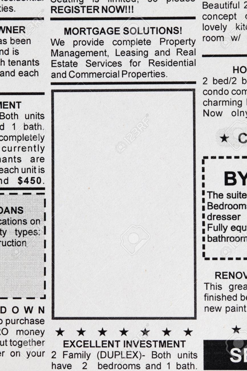 Fake Classified Ad, newspaper, business concept Stock Photo - 23359997